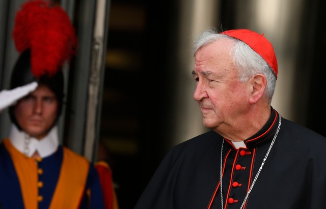 Cardinal Nichols at the Vatican in 2014. (CNS file/Paul Haring)