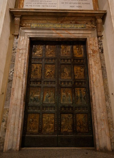 The Holy Door in St. Peter's Basilica. (CNS/Paul Haring)