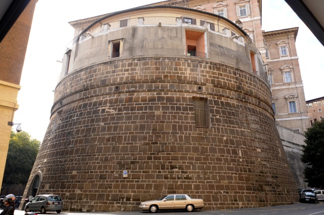 The Institute for the Works of Religion, popularly known as the Vatican bank, is located in the Bastion of Nicholas V in the Vatican. (CNS file/Catholic Press Photo)