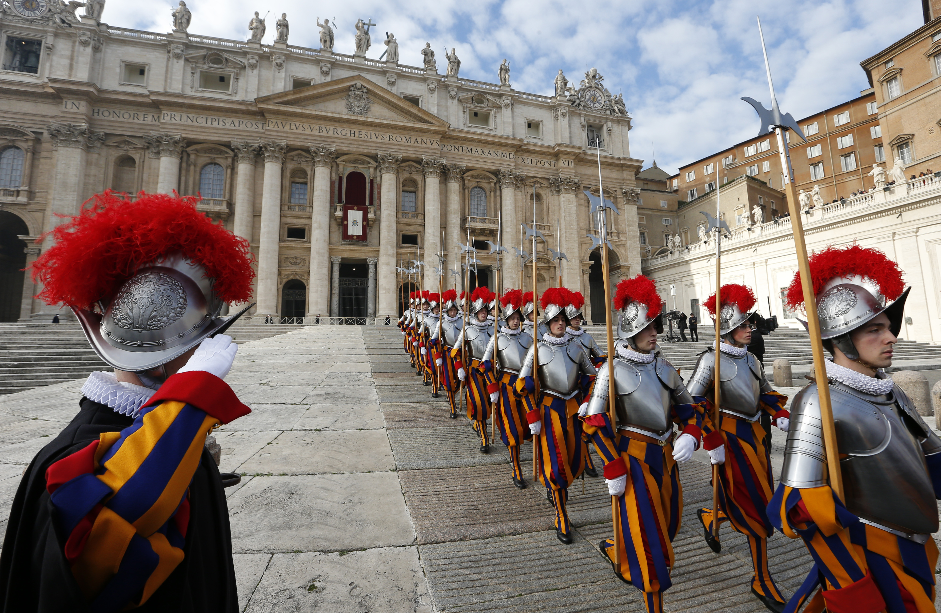 Pope tells Swiss Guard soldiers to arm themselves with ...