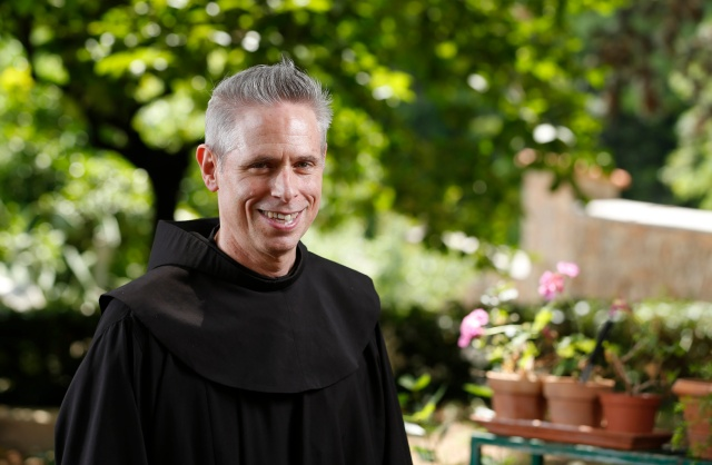 U.S. Franciscan Father Michael Perry, minister general of the Order of Friars Minor, is pictured at the Franciscan headquarters in Rome June 12. Father Perry discussed