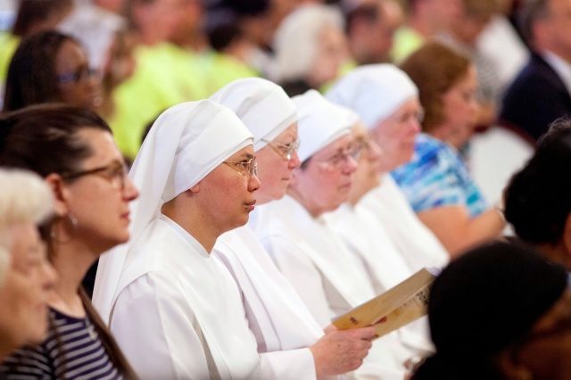 Little Sisters of the Poor attend a Mass for the annual Fortnight for Freedom in Baltimore. (CNS file/Tom McCarthy Jr., Catholic Review)
