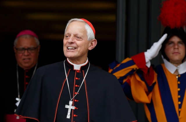 Cardinal Donald W. Wuerl of Washington leaves a session of the Synod of Bishops on the family at the Vatican Oct. 6. (CNS/Paul Haring)