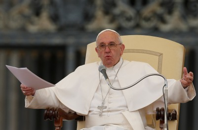 Pope Francis leads a general audience in St. Peter's Square. (CNS file/Paul Haring)