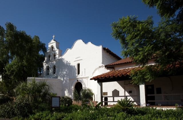 The Mission Basilica San Diego de Alcala in San Diego, established in 1769, was the first in a string of missions Spanish Franciscans set up along the California coast. (CNS/Nancy Wiechec)