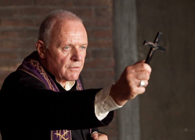 "Anthony Hopkins in a scene from the 2010 movie ""The Rite."" (CNS/Warner Bros.)"