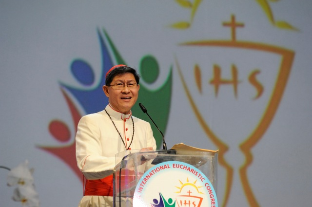 Image result for cardinal tagle eucharist