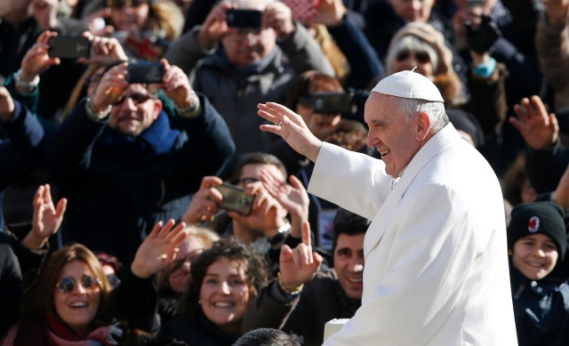 Pope Francis is seen at St. Peter's Square at the Vatican Feb. 6. (CNS/Paul Haring)