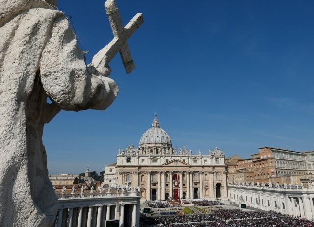 St. Peter's Basilica is seen during a papal Mass in Vatican City. (CNS/Paul Haring)