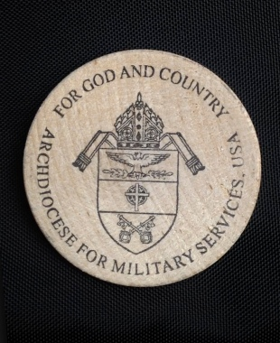 The coin of the U.S. Archdiocese for the Military Services. (CNS/courtesy of Auxiliary Bishop F. Richard Spencer)
