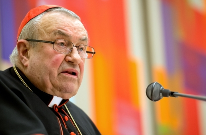 Cardinal Lehmann is pictured in 2014. (CNS/EPA)