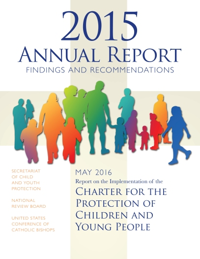 Cover of the U.S. Conference of Catholic Bishops' Office of Child and Youth Protection annual report on dioceses' compliance with the USCCB charter on abuse prevention. (CNS/USCCB)