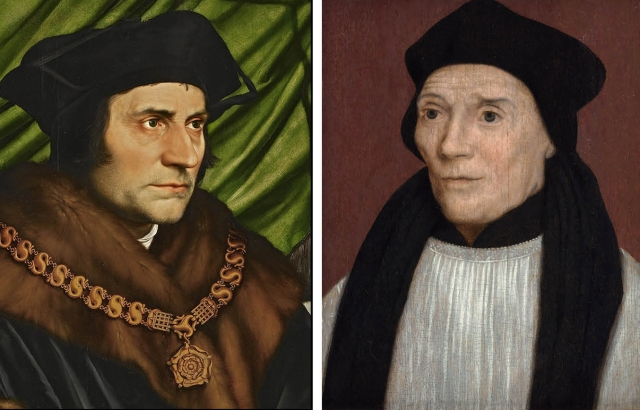 Paintings of Sts. Thomas More and John Fisher (CNS composite)