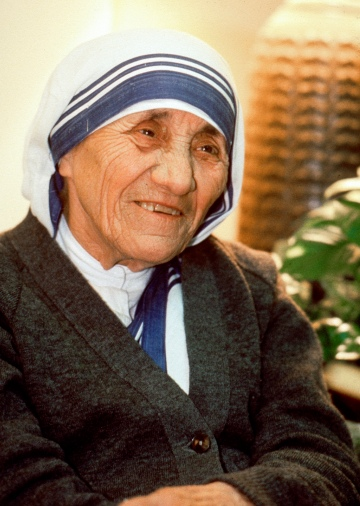 Mother Teresa during a visit to Phoenix in 1989. (CNS/Nancy Wiechec)