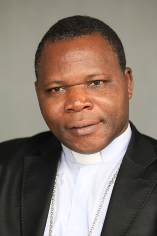 Archbishop Dieudonne Nzapalainga of Bangui, Central African Republic, is one of 17 new cardinals named by Pope Francis. (CNS/Bob Roller)