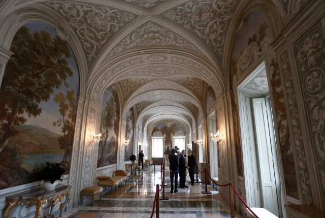A hallway is seen in the papal villa at Castel Gandolfo, Italy, Oct. 21. Private areas of the papal villa are now open to the public. (CNS/Paul Haring)