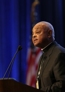 Atlanta Archbishop Wilton D. Gregory speaks Nov. 14 during the annual fall general assembly of the U.S. Conference of Catholic Bishops in Baltimore. (CNS/Bob Roller)