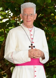 Cardinal-designate Maurice Piat of Port-Louis, Mauritius, pictured in a late-April photo, is among 17 new cardinals to be created by Pope Francis Nov. 19. (CNS photo/courtesy Diocese of Port-Louis)