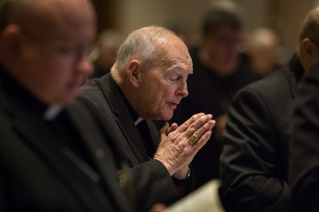 Cardinal Theodore E. McCarrick, retired archbishop of Washington, attends the 2015 spring general assembly of the U.S. Conference of Catholic Bishops in St. Louis. (CNS/Lisa Johnston, St. Louis Review)