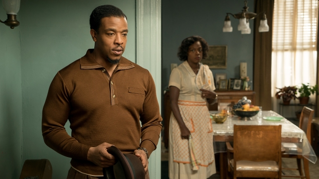 "Russell Hornsby and Viola Davis star in a scene from the movie ""Fences."" (CNS/Paramount)"
