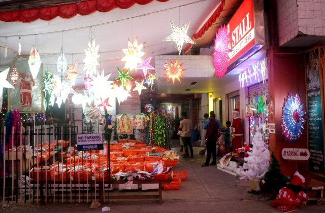 Deserted Christmas stalls are seen in Thiruvananthapuram, India, Dec. 11. (CNS photo/Anto Akkara)