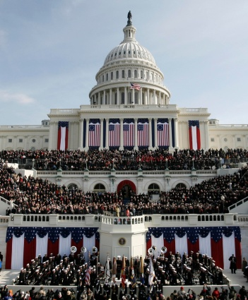 The west side of the U.S. Capitol is seen as Barack Obama is sworn in as the 44th president of the United States in 2009 in Washington. (CNS/Reuters)