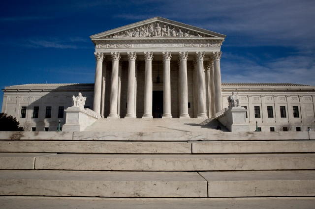 The U.S. Supreme Court building in early 2017. (CNS/Tyler Orsburn)