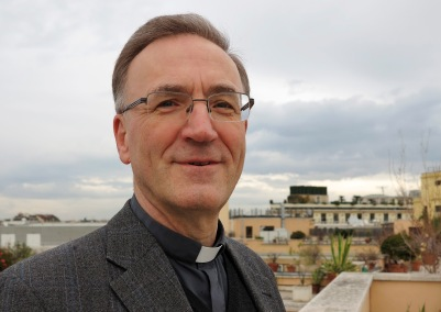 Jesuit Father Stefan Dartmann is rector of the Pontificium Collegium Germanicum et Hungaricum. (CNS/Carol Glatz)