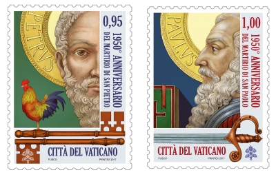 The Vatican will release stamps to mark the 1,950th anniversary of the martyrdoms of Sts. Peter and Paul, founders of the church in Rome. (CNS/Vatican)