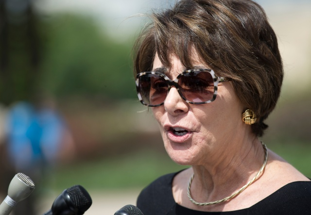 Rep. Anna G. Eshoo, D-Calif., speaks about the bipartisan Iraq and Syria Genocide Emergency Relief and Accountability Act near the U.S. Capitol in Washington June 7. (CNS/Tyler Orsburn)
