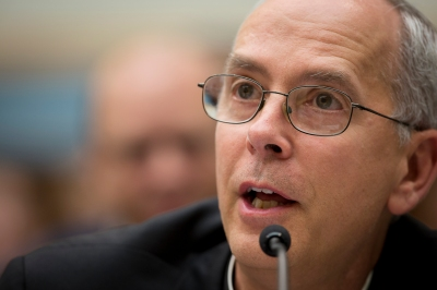 Bishop Mark J. Seitz of El Paso, Texas, addresses the House Judiciary Committee in Washington at a 2014 hearing about unaccompanied and undocumented minors entering the U.S. from Honduras, El Salvador and Guatemala. (CNS file/Tyler Orsburn)