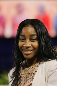 "Amelia Jean, 17, a parishioner of St. Martha's Catholic Church in Uniondale, N.Y., may have been the youngest delegate at the ""Convocation of Catholic Leaders: The Joy of the Gospel in America."" (CNS/Bob Roller)"