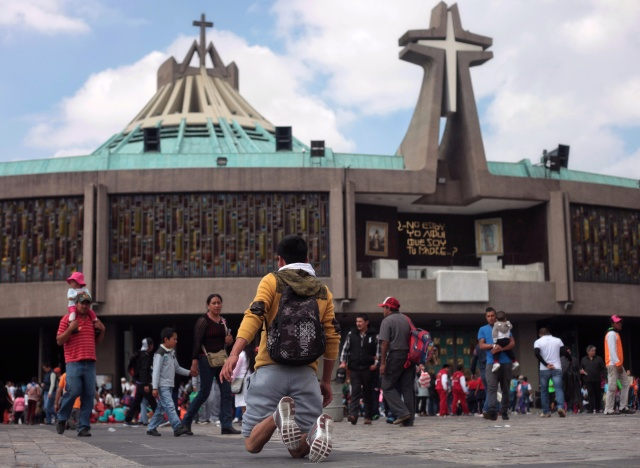 The Basilica of Our Lady of Guadalupe in Mexico City is seen last December during celebrations of her feast day. (CNS/EPA)