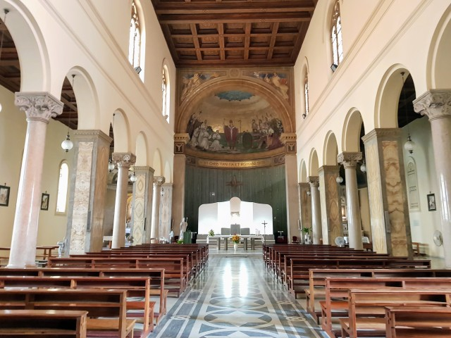Interior of St. Patrick's Church in Rome. After leaving the Church of Santa Susanna, which American Catholics had called its parish since 1922, the community will now call St. Patrick's home. (CNS/Junno Arocho Esteves)
