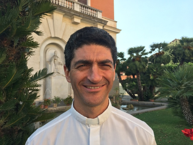 """Father Augusto Zampini Davies, from Argentina, works at the Vatican Dicastery for Promoting Integral Human Development, where he focuses on """"integral ecology,"""" which includes development, the environment and spirituality. (CNS/Cindy Wooden)"""