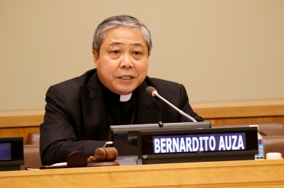 Archbishop Auza. (CNS/Gregory A. Shemitz)