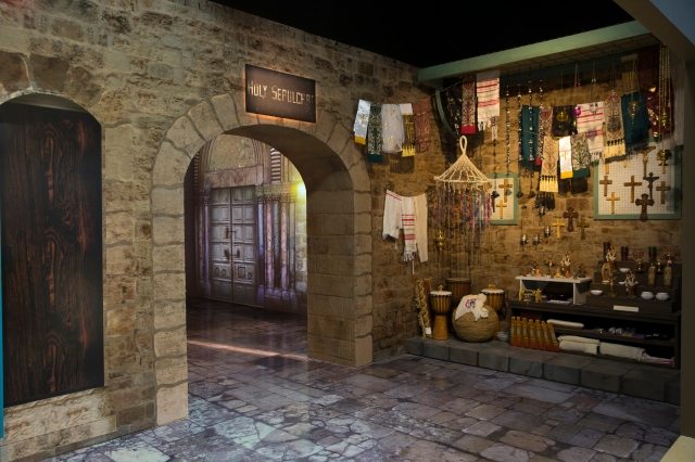 "The National Geographic exhibition ""Tomb of Christ: The Church of the Holy Sepulchre Experience"" opened Nov. 15 at the National Geographic Museum in Washington and is on display through the fall of 2018. (CNS/National Geographic)"