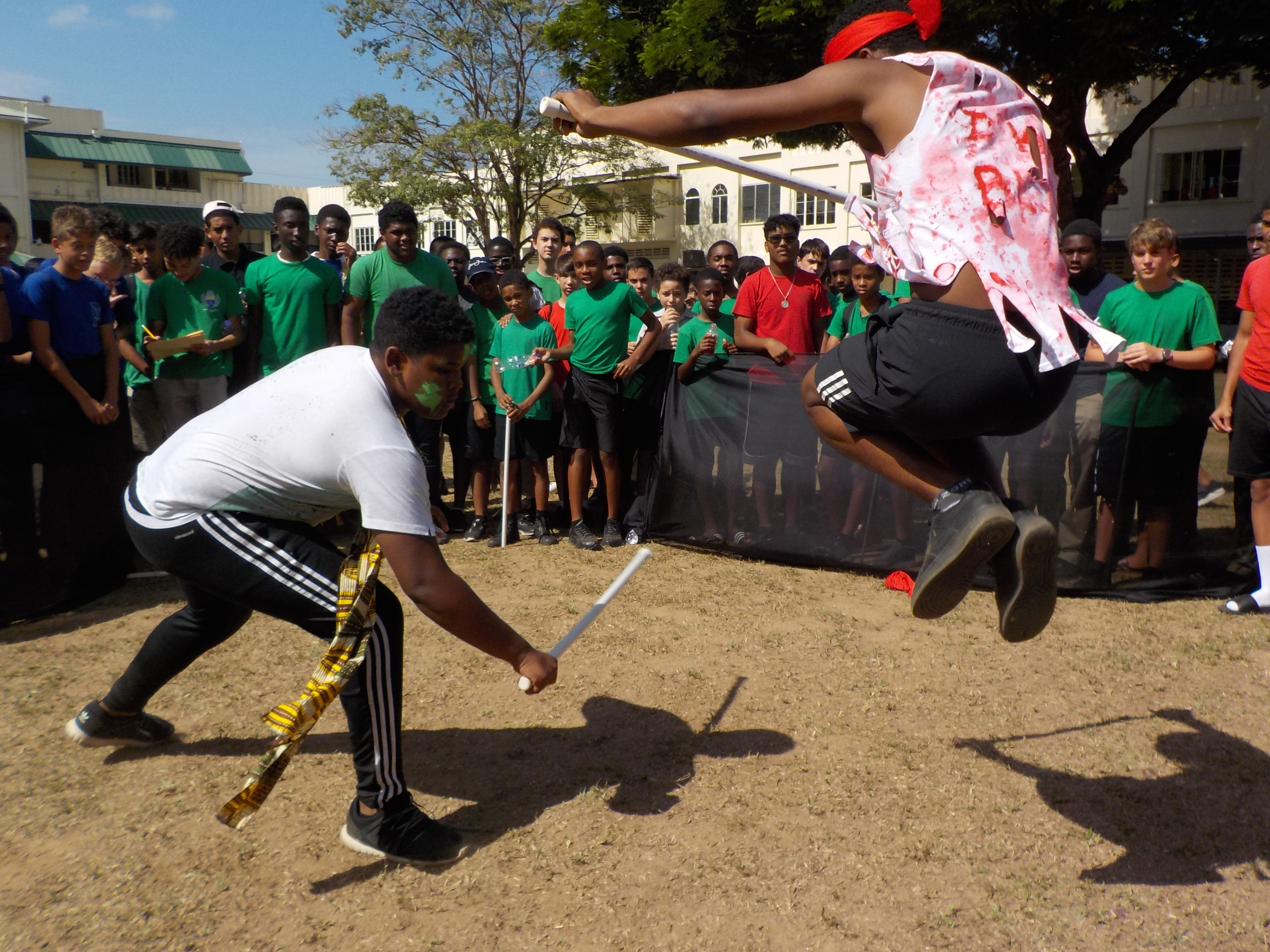Francois Illas New Tradition: For Trinidad Carnival, Catholic Students Learn African